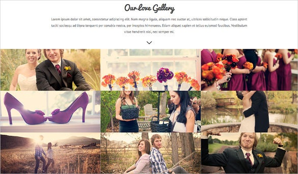 beautiful couple wedding wordpress theme