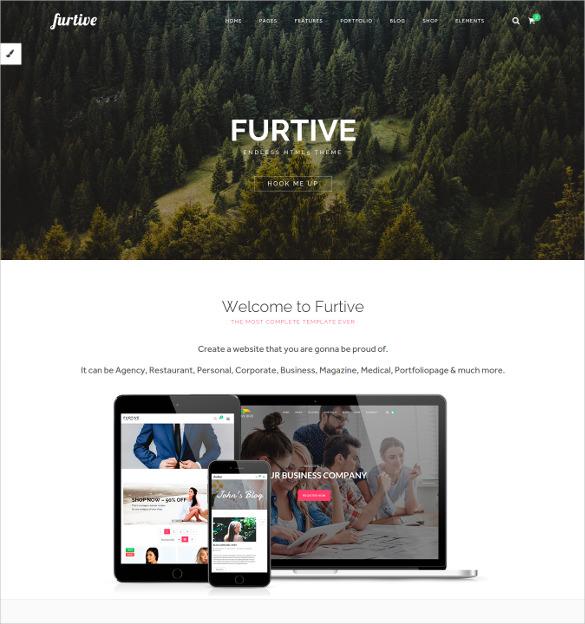 furtive premium html5 ecommerce theme