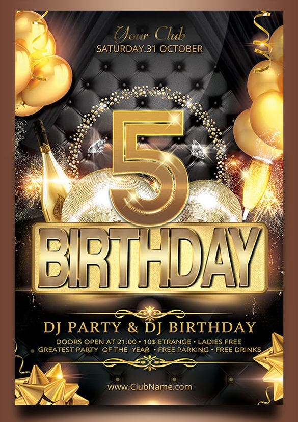 unique birthday flyer template