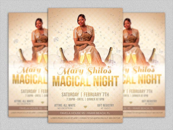 simple birthday flyer template
