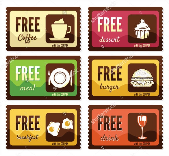 free coffe coupon design template download