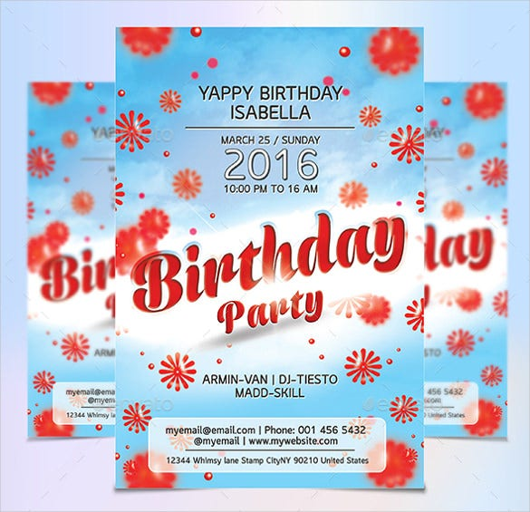 nice birthday flyer template