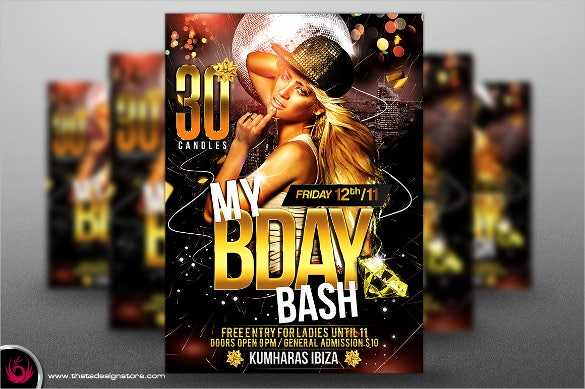 my birthday flyer template