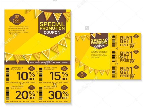 promotional coupon design template download