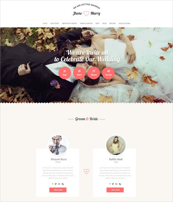wedding day wordpress theme
