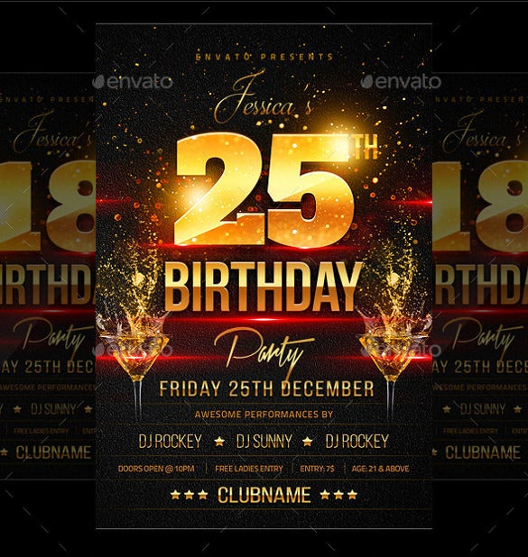 cocktail birthday flyer template