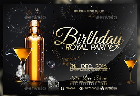 guest birthday flyer template