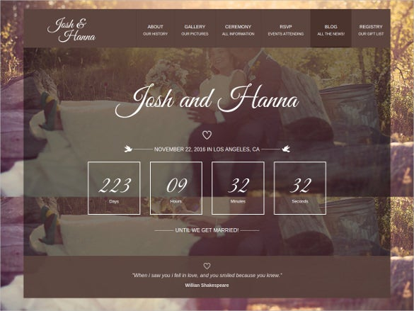 lovers wedding wordpress theme