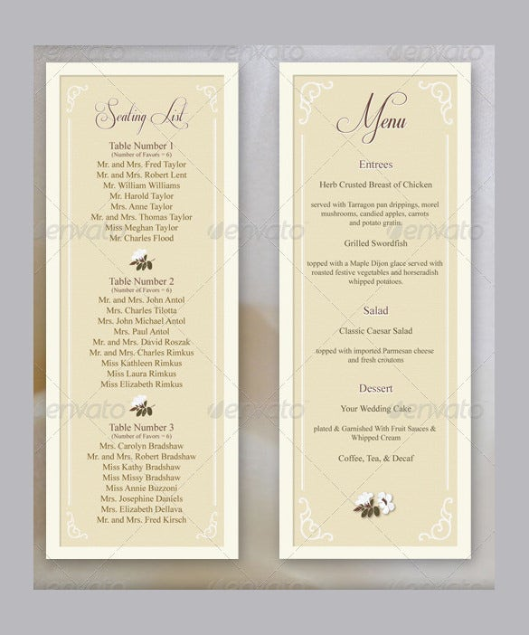 36 Wedding Menu Templates Ai Psd Google Docs Apple Pages
