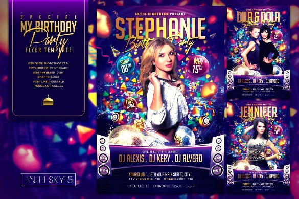 special birthday flyer template
