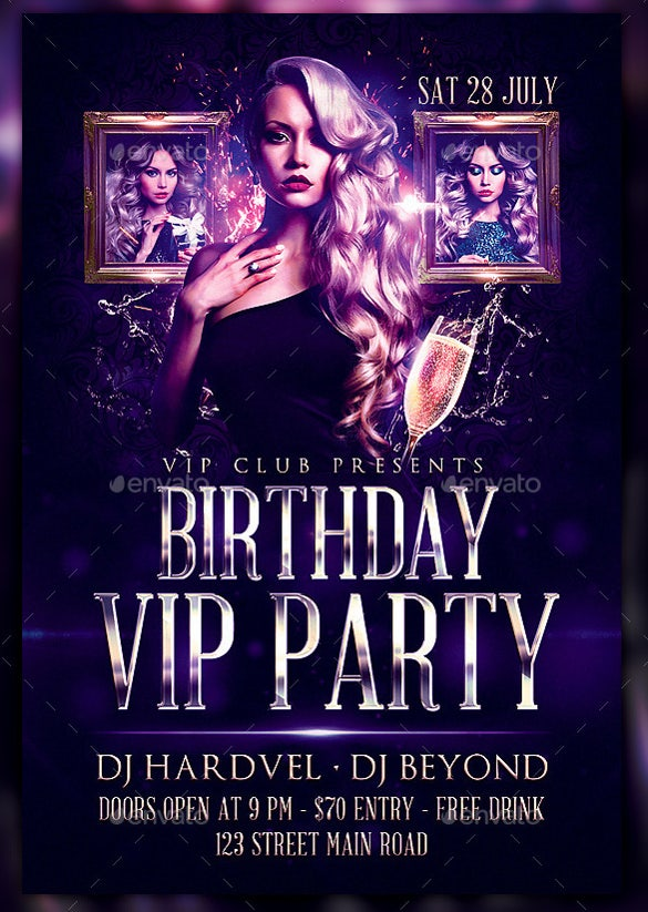 Royal Birthday Flyer Template