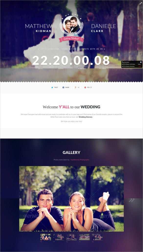 beautifully elegant wedding wordpress theme