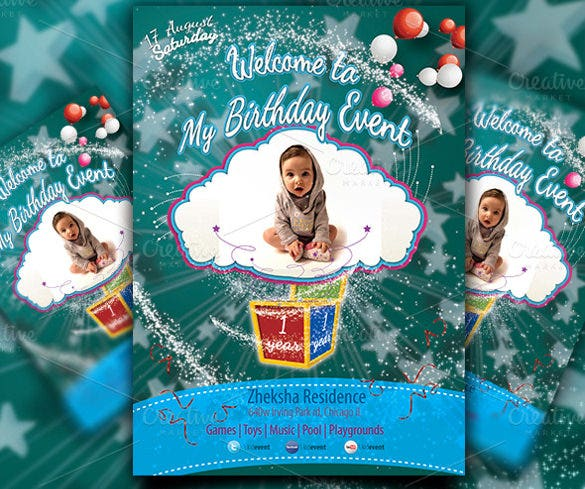 child birthday flyer template