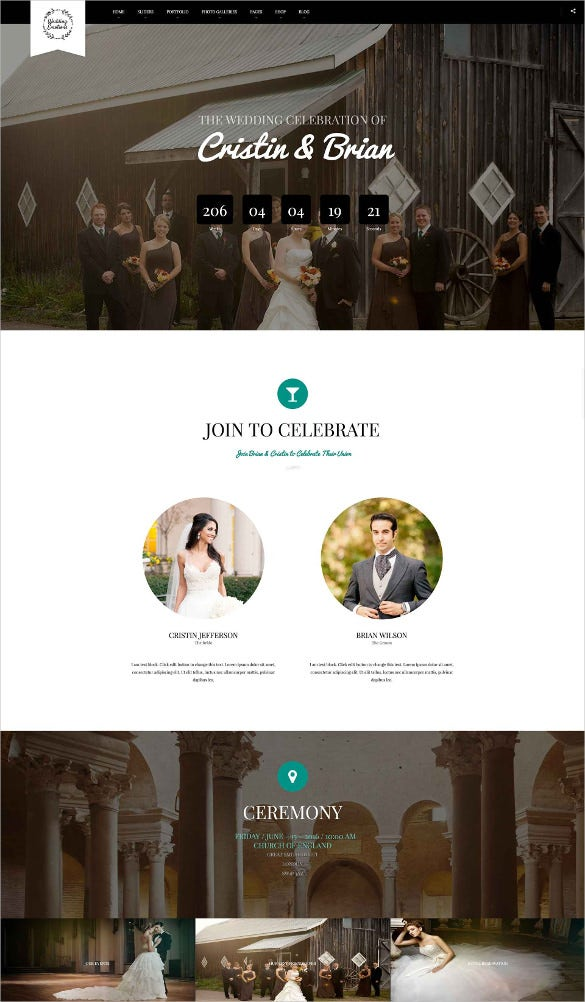 wedding emotions wordpress theme