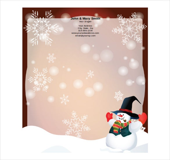 example format free holiday stationery template