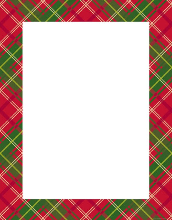 16 holiday stationery templates free psd vector eps for Free christmas border templates