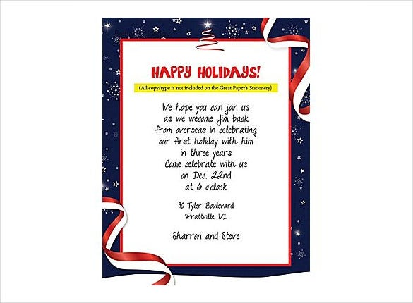 holiday stationery patriotic template