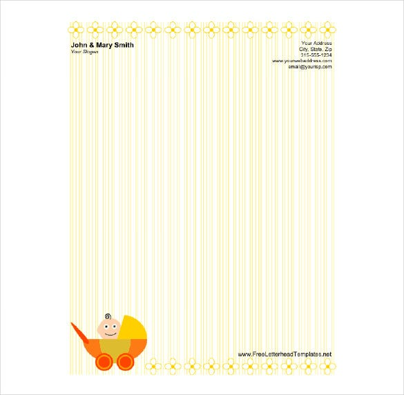 simple holiday stationery template