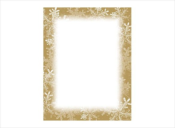 holiday stationery frosted template1