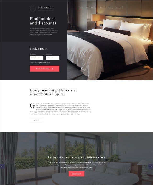 moonresort html5 website template