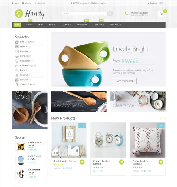 handy handmade shop html5 shopify theme