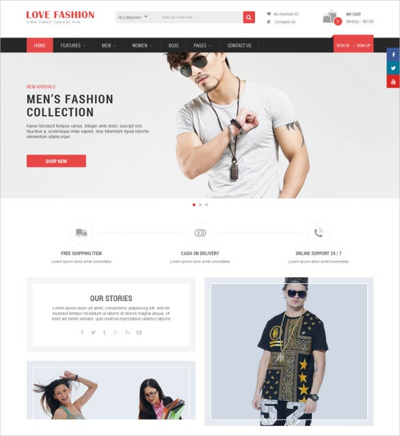 love fashion responsive multipurpose opencart html5 theme