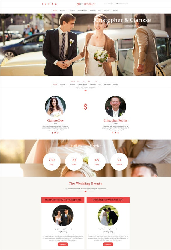 creative wedding planner wordpress theme