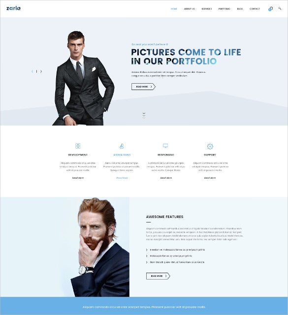 zaria – business consulting html5 css3 template