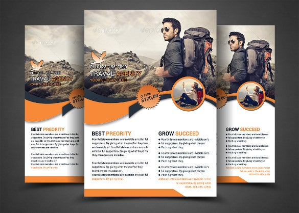 holiday travel flyer print template fully layered psd