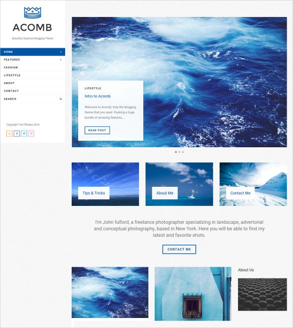 acomb responsive blogging wordpress html5 theme