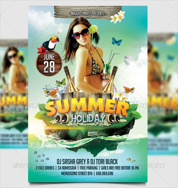 unique summer holiday flyer template