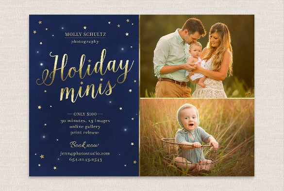 holiday mini flyer winter template