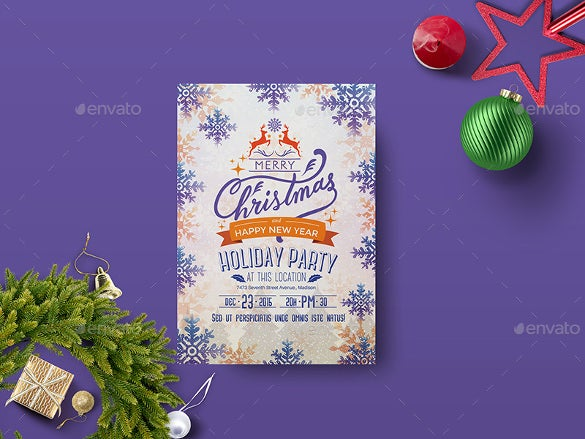 holiday party template flyer download