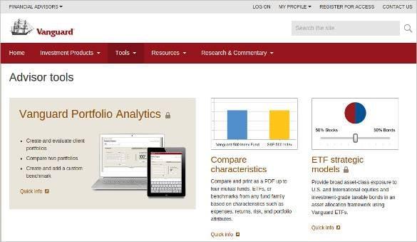 vanguard portfolio analytics tool download