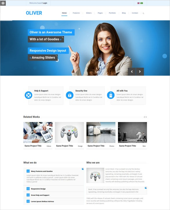oliver responsive multipurpose joomla html5 template