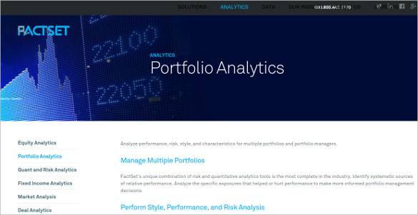 factset portfolio analytics tools