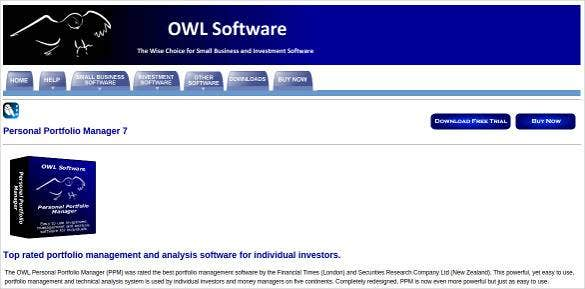 personal portfolio manager tool software download