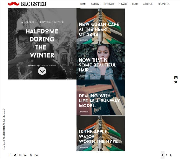 blogster a responsive personal html5 blog theme