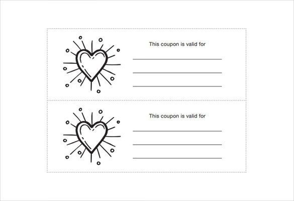 All Purpose Homemade Coupon Template Download  Blank Coupons Templates