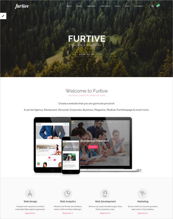 furtive premium html5 theme