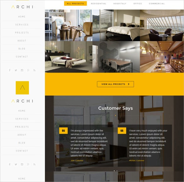 Interior Design Web Templates 40 Interior Design Website Templates  Free & Premium Templates