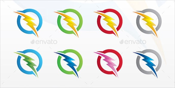 bold electrical logo template