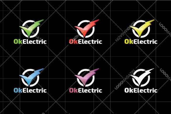 storm electrical logo template
