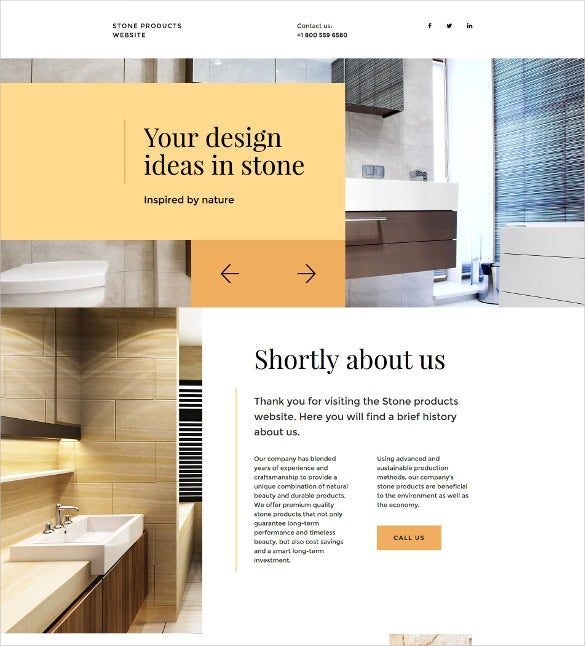 flooring landing page template