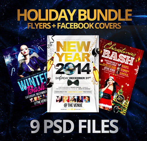 best holiday bundle flyer template