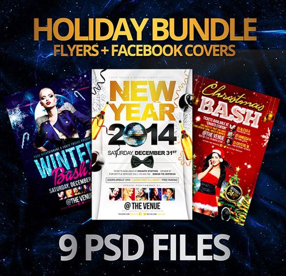 best holiday bundle flyer template
