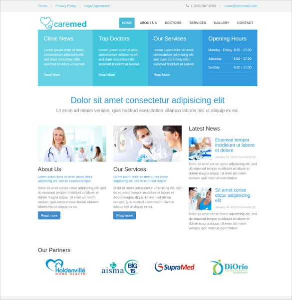 caremed medical html5 template