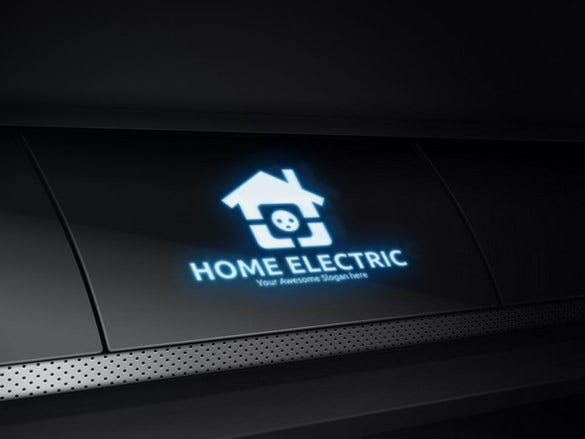 home electrical logo template