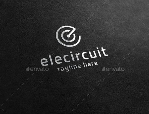 volt electrical logo template