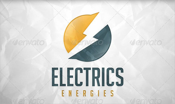 unique electrical logo template